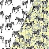 Stoffe Werning Baumwolljersey Lichteffekt Zebra Kinderstoff