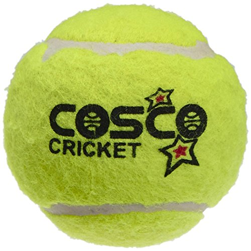 tryviz Cosco Rubber Light Weight Cricket Tenis Ball, Pack of 6 (Yellow)  available at amazon for Rs.399