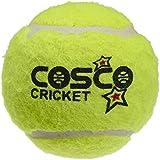 Cosco Light Weight Cricket Ball, Pack Of 12 (Yellow)