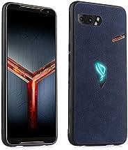 Phone Case For Asus ROG Phone II ZS660KL Shockproof Sheep Skin PC + PU + TPU Brand: TONWIN. (Color : Blue)