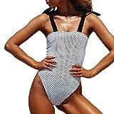 Luckycat Trajes de baño de Dos Piezas Bikini Sexy Mujer Verano 2019 Ropa de Playa Bañador Impreso Punto y Grano del Leopardo Tankinis Push up señora Swimsuit Tanga Camisolas y Pareos