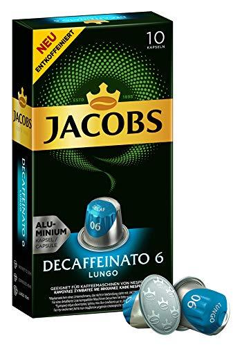 Jacobs Espresso Kapseln Lungo Decaffeinato- Intensität 6- 50 Nespresso* kompatible Kaffeekapseln...