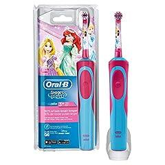 Idea Regalo - Oral-B Stages Power Spazzolino Elettrico Ricaricabile per Bambini con Principesse Disney, con 1 Manico E 1 Testina