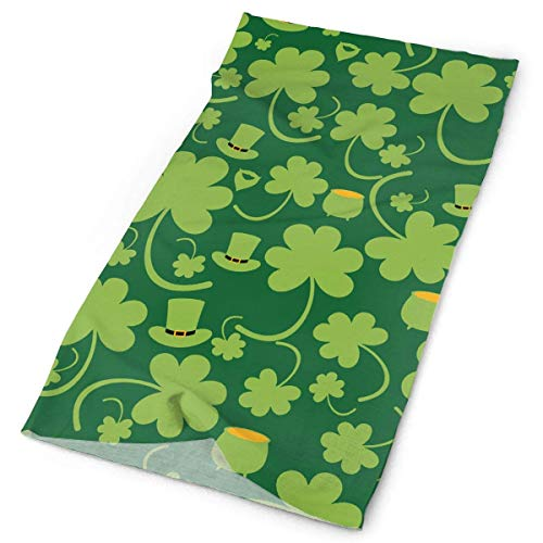 Qinckon Unisex Outdoor Sports Bandana Stirnbänder St. Patrick's Shamrock Pattern Multifunktional Magic Scarf