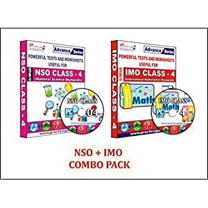 Sure shot question bank – 40 Tests (IMO) & 35 Tests (NSO) – Class 4 Olympiads (Set of 2 CDs) + Previous year questions…