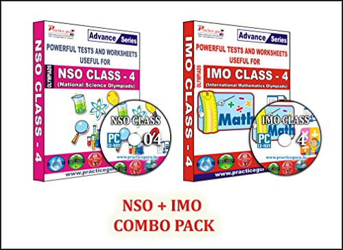 Sure shot question bank - 40 Tests (IMO) & 35 Tests (NSO) - Class 4 Olympiads (Set of 2 CDs) + Previous year questions to practice & Printable worksheets.  available at amazon for Rs.990