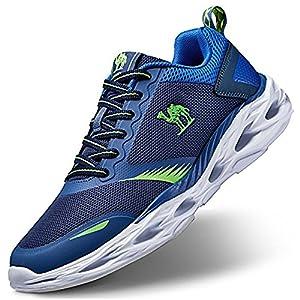 CAMEL CROWN Zapatillas de Running Deporte y Aire Libre Hombres Zapatos Entrenamiento de Correr montaña Calzado Gimnasio Atletismo Cómodo Ofertas Gris Negro