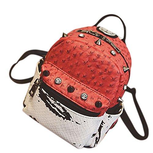 Solid Color Nieten (Zantec Frauen Fashion Casual Handtasche Solid Color Nieten Mädchen Umhängetasche)