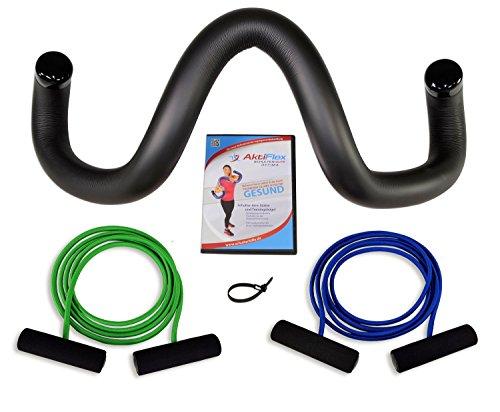 AktiFlex® Schulterhilfe® Optima Comfort-Set Schultertrainer gegen Schulterschmerzen und schlechter Haltung (Schwarz, 2. Standard -M-) -