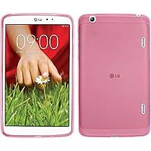 Funda de silicona para LG G Pad 8.3 - transparente rosa - Cover PhoneNatic Cubierta + protector de pantalla