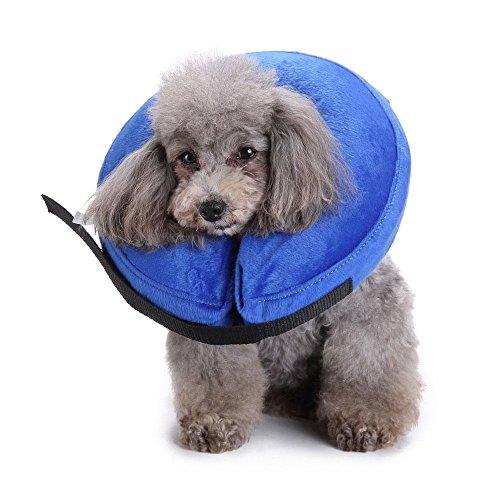 Leegoal aufblasbar Halsband Schutz aufblasbar Konus verhindern Haustiere von Berühren Wunden Pet Schutz Halsband für Hunde Katzen (Recovery Auswirkungen)