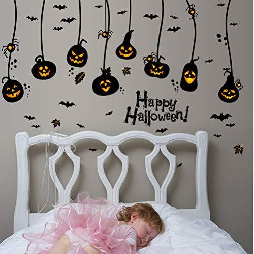 (asd137588 Happy Halloween Haushaltsraum Wandaufkleber Wandbild Decor Aufkleber Abnehmbare Halloween Kürbis Laterne Wandaufkleber Für Kinderzimmer)