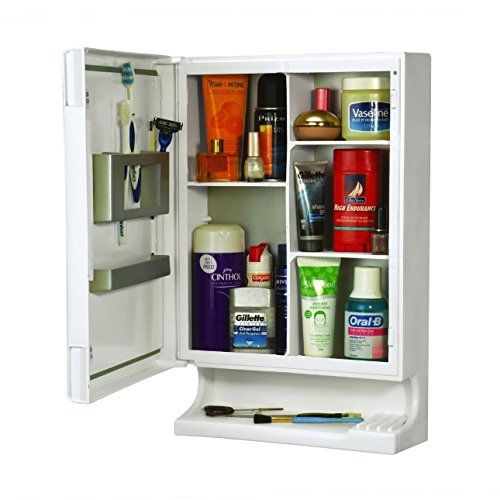 Parasnath White New Look Bathroom Cabinet with Cabinet With Mirror (Lifetime Warranty*MADE IN INDIA)