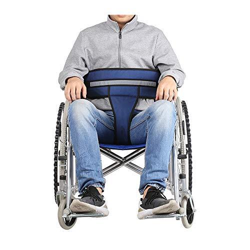 Sicherheitsgurt-Rückhaltesysteme für den Rollstuhl Brustkreuz Medizinische Rückhaltegurte Stuhl Verstellbarer Riemen Patienten Pflege Ältere Sicherheit (Blau) (Gurt Rollstuhl)