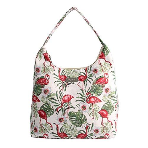 Signare besace sac d'épaule tapisserie mode femme Flamant