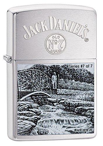 Zippo Jack Daniels 7 of 7 - Limited Edition Feuerzeug, Chrome 5.8 x 3.5 x 2 cm