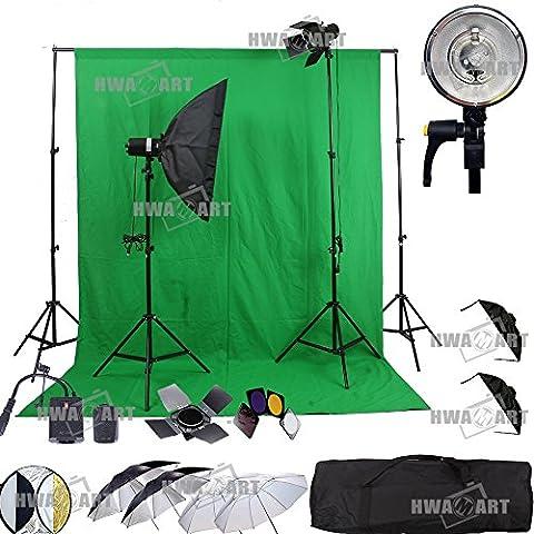 HWAMART ® Portrait Professional Photography Studio Flash Light Strobe Kit