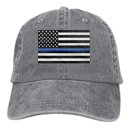 fdgjydjsh Infant Support The Police Thin Blue Line American Flag Cute Baby Onesie Bodysuit Snapback Cotton Cap
