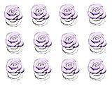 Haarspiralen Curlies Haarschmuck Rosen Strass Hochzeit Kommunion Röschen Farben (Lavendel)