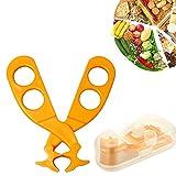 Isuper Schere Tragbare für Lebensmittel für Lebensmittel, Schere/Rasentraktoren/Masher Healthy Baby Care Orange 1PC