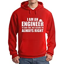 teestars – soy un ingeniero Just asumir I 'm always right – Funny sudadera con capucha