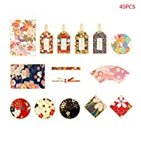 BINGMAX 45pcs/Box Flowers Stationery Stickers Sealing Label Travel Sticker Scrapbooking Diary Planner Albums Journal Decorations DIY