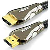 Cable HDMI 1.4 Profesional - 2M - Compatible con HDMI 2.0 - Ultra HD 2160p (4K) / Full HD 1080p - alta velocidad con 3D, Ethernet y Canal de Retorno de Audio (ARC) - Blindaje triple y nylon