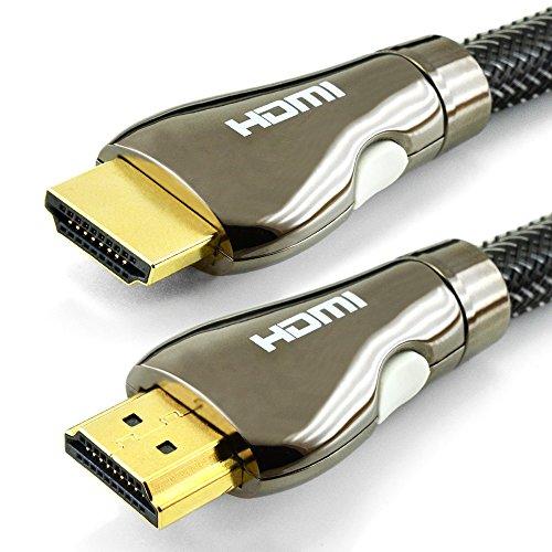 Cavo hdmi ad alta velocità - 1,5 metri - hdmi 1.4 / 2.0 - supporta ethernet, 3d, video 4k e arc - uhd 4k 2160p, full hd 1080p - tripla schermatura con nylon intrecciato