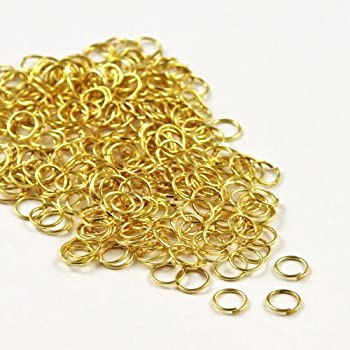 BeadDelighted 200 Split Jump Rings Connector Gold 5mm Jewellery Craft Findings