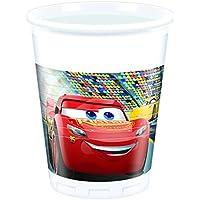 Qualatex 49976 Disney Cars 3 Plastic Party Cups, 200 ml