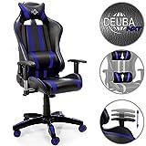Deuba Chaise de Bureau Fauteuil de Bureau siège Noir Bleu Ergonomique...