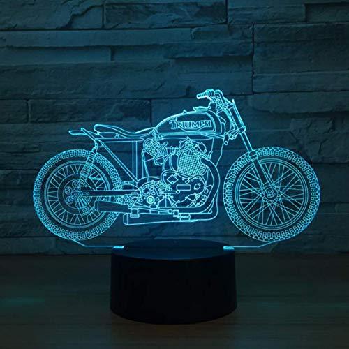 XINGXIAOYU 3D Led Touch-Taste Tischlampe Nachtlicht Langlauf Motorrad Decor 7 Farbwechsel USB Schlaf Beleuchtung Für Kinder Spielzeug Geschenk