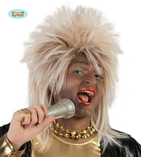 Blonde Punk Perücke Kostüm Rockstar für Herren blond 80er 90er Jahre (Herren Jahre Kostüme 90er)