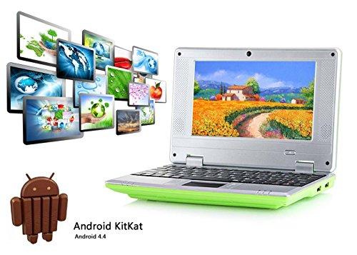"""Preisvergleich Produktbild 2017 Späteste 8GB Kinder Computer Netbook Notebook 7 """"VIA8880 mini Android 4.4 Laptop Netbook- HDMI -Wifi-Webcam-Best Weihnachtsgeschenk (Grün)"""