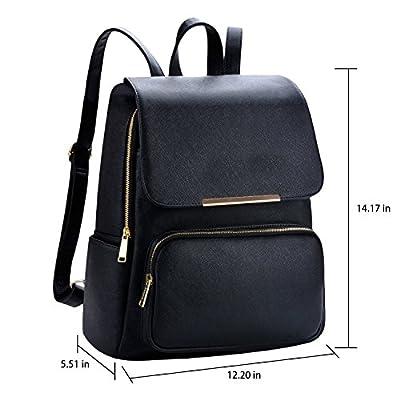 Alice 7 Liters Black Casual Backpack Stylish Girls School Bag College Bag Casual Backpack Handbag