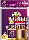 Panini 807994 - UEFA Euro 2012 Starterset, Album, 10 Stickertüten, 2 Quadrotten (Stickerbogen)