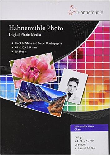 Preisvergleich Produktbild Hahnemühle 10641920 Photo Glossy Papier, 260 g/m², DIN A4, 210 x 297 mm, hellweiß