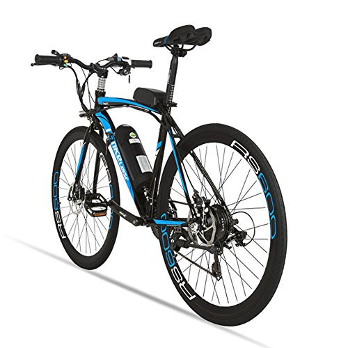 515xky9U%2B3L. SS500  - Extrbici Electric City Bike Rs600 Mans Electric Road Bike 700c×50cm Strong Carbon Steel Frame 240W 36V 15AH Lithium Battery with Key Start Shimano 21 Speeds Dual Disc Brakes