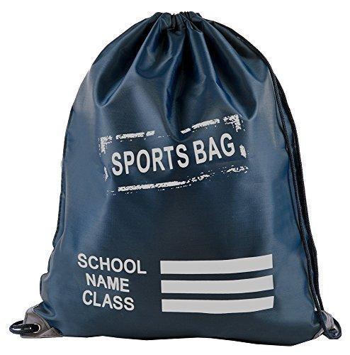 Retro Kordelzug Schule / PE / Schwimmen / Pumps / Trainer / Sport Tasche Marineblau