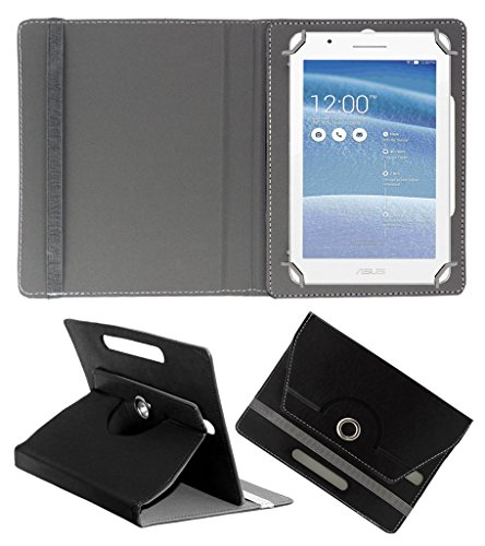 Acm Rotating 360° Leather Flip Case For Asus Tablet Fe171 Tablet Cover Stand Black  available at amazon for Rs.149