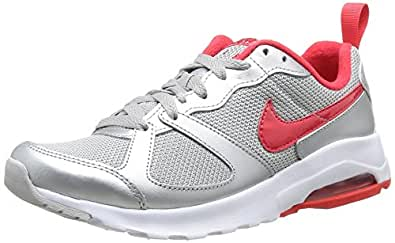 Nike Air Max Muse, Chaussures de running femme - Multicolore (Metallic Silver/Act Red/White), 36.5 EU