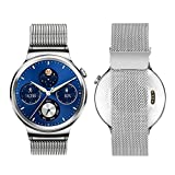 #1: J Stainless Steel Watch Strap Bracelet for Huawei Smart Watch Silver (WATCH NOT INCLUDED)