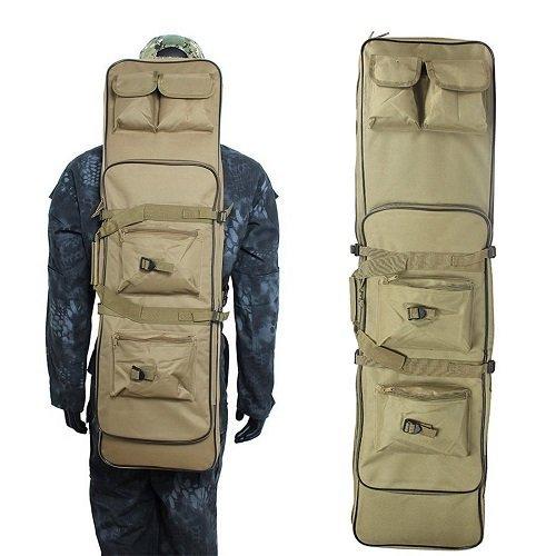 Bolsa para Rifle, Arma, Funda para Caña de Pescar, Portátil y Gran Capacidad para Funda de Rifle Pesca de 600D Oxford Resistente, coyote