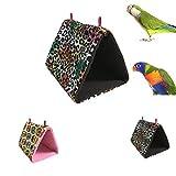 Himolla chaud Bird Nest Lit pour Parrot perruche perruche Amazones Calopsittes inséparables canari Finch Capucin Cage à suspendre Hamac jouet