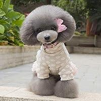 Erduo Mode Winter Verdickung Warm Halten Haustier Katze Hund Kleidung Baumwolle Rock Bequeme Weste Coat Gemütliche Jacke Pet Supplies - Rosa S