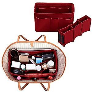 Xiton Taschenorganizer Filz,Organizer Tasche,Taschen organisator für Handtaschen Makeup Organizer Geldbörse für Speedy…