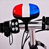 leading-star 6 LED Light 4 Sounds Unqiue Cycle Police Car Trumpet Cycling Horn Bell