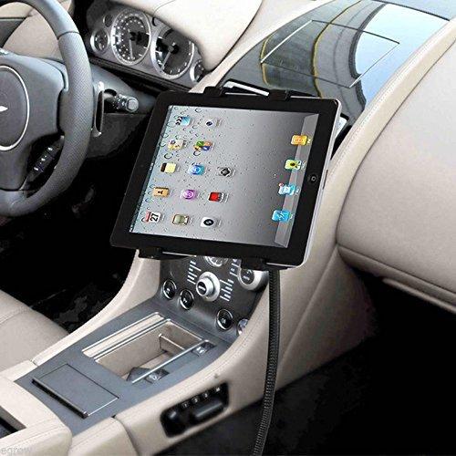 LEDELI CD Schacht KFZ Auto Tablet PC Halterung Handy Smartphone Magnethalterung Autohalterung für Armaturenbrett Kopfstützenhalterung (mit Autositz Befestigung)