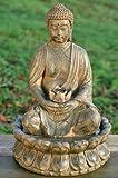 BRUNNEN BUDDHA SKULPTUR STATUE 52cm MIT WASSER