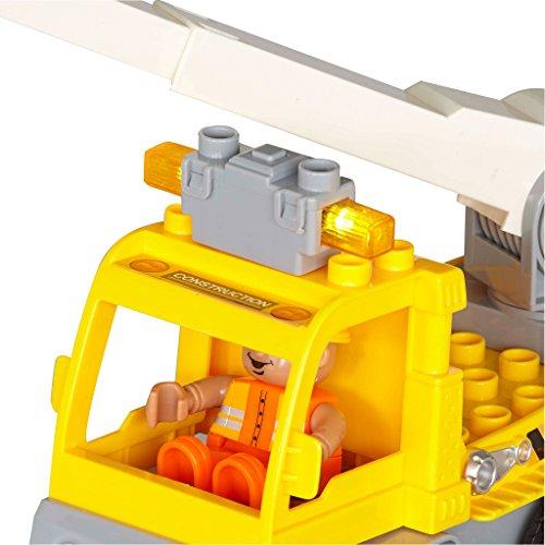 RC Auto kaufen Baufahrzeug Bild 2: Revell Control Junior RC Car Kranwagen - ferngesteuertes Baufahrzeug mit 27 MHz Fernsteuerung, kindgerechte Gestaltung, ab 3, zum Bauen und Spielen, mit Spielfigur, LED-Blinklichtern - 23002*